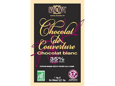 カオカ ホワイトチョコレート ブラン 35% 1kg