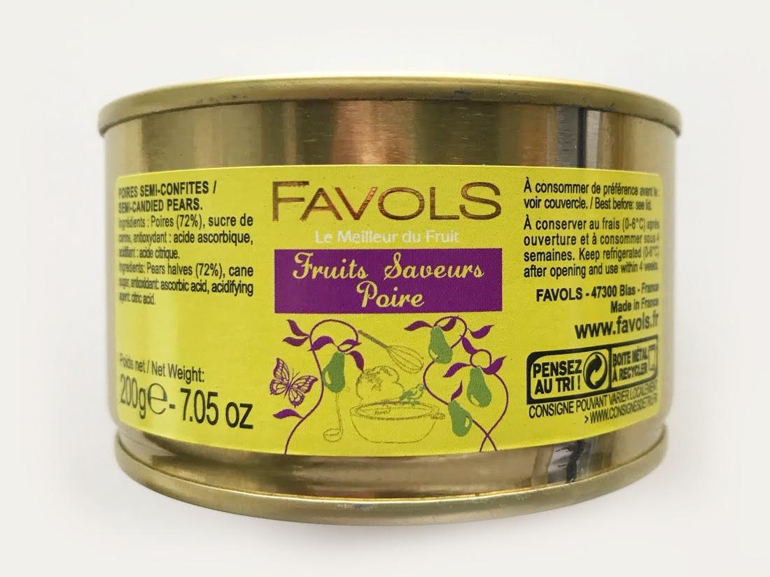 ファヴォルス セミドライ ポワール 200g