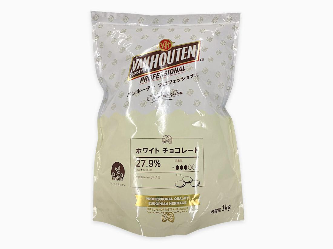 冷蔵便 バンホーテン ホワイトチョコレート W28S 1.5kg