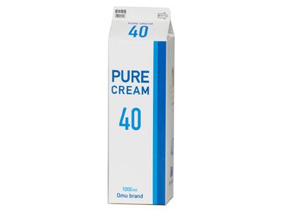 冷蔵 オーム乳業 ピュアクリーム40% 1L