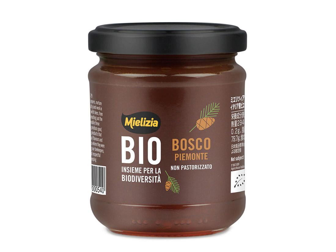 ミエリツィア ピエモンテの森の有機ハチミツ 250g