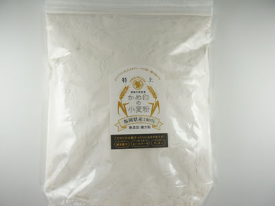 田中製粉 かめ印の小麦粉 特上 800g