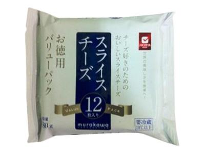 冷蔵 JUCOVIA お徳用スライスチーズ 12枚入(180g)
