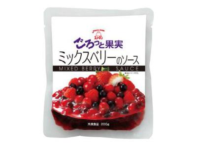冷凍 スノーマン ごろっと果実 ミックスベリーのソース 200g