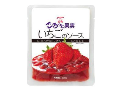 冷凍 スノーマン ごろっと果実 いちごのソース 200g