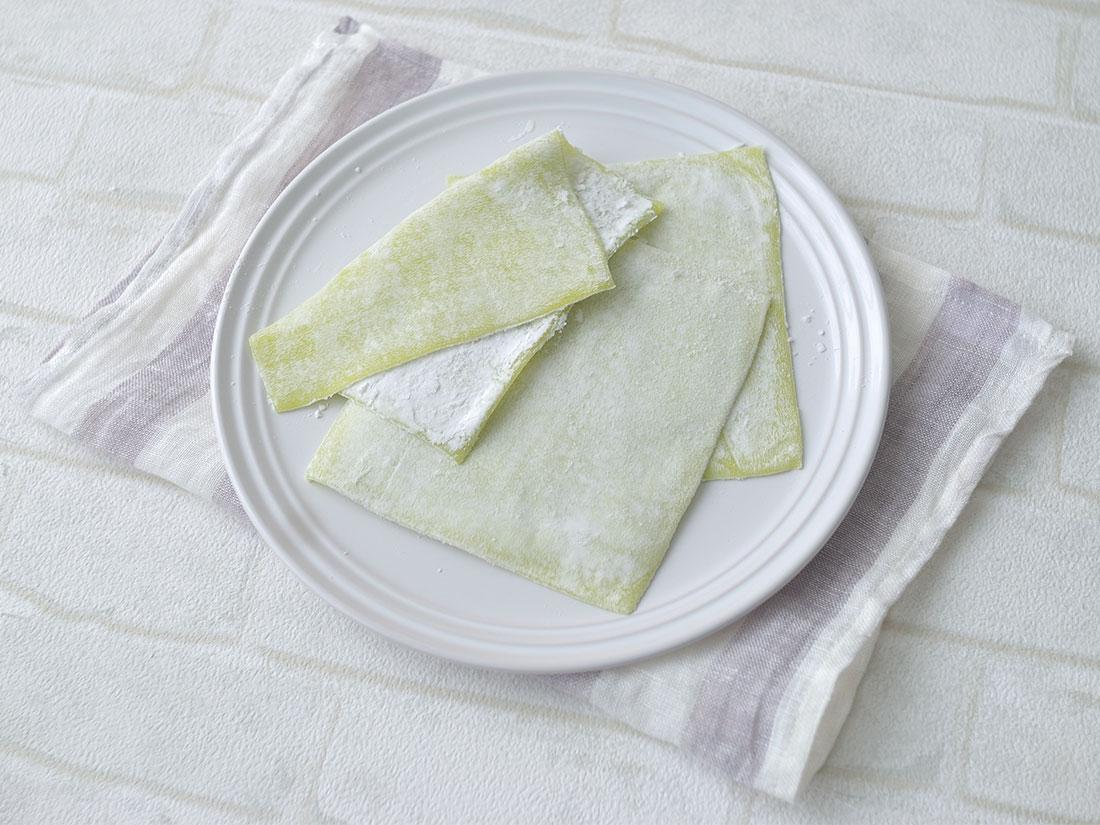 冷凍 ぎゅうひクレープ(抹茶) 12cm角 35g×10枚入