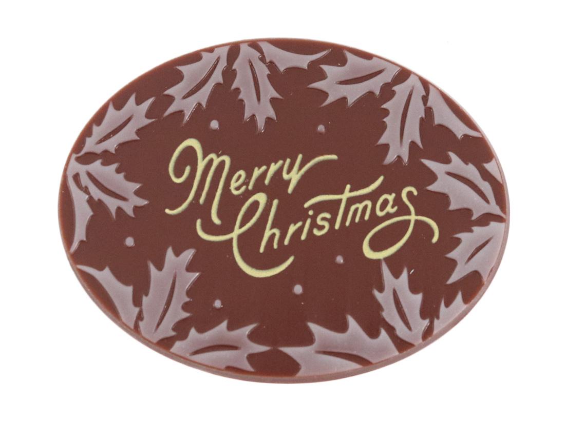 チョコプレート ホワイトリースヒイラギ
