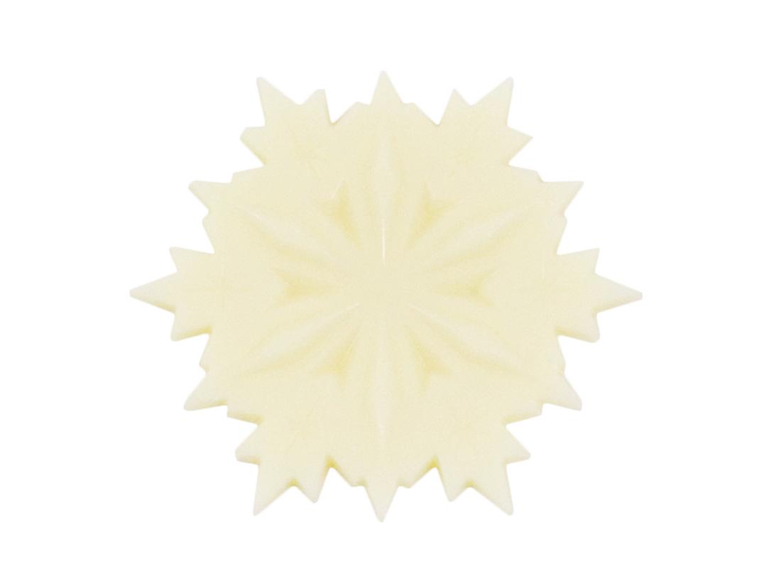 チョコプレート 雪の結晶