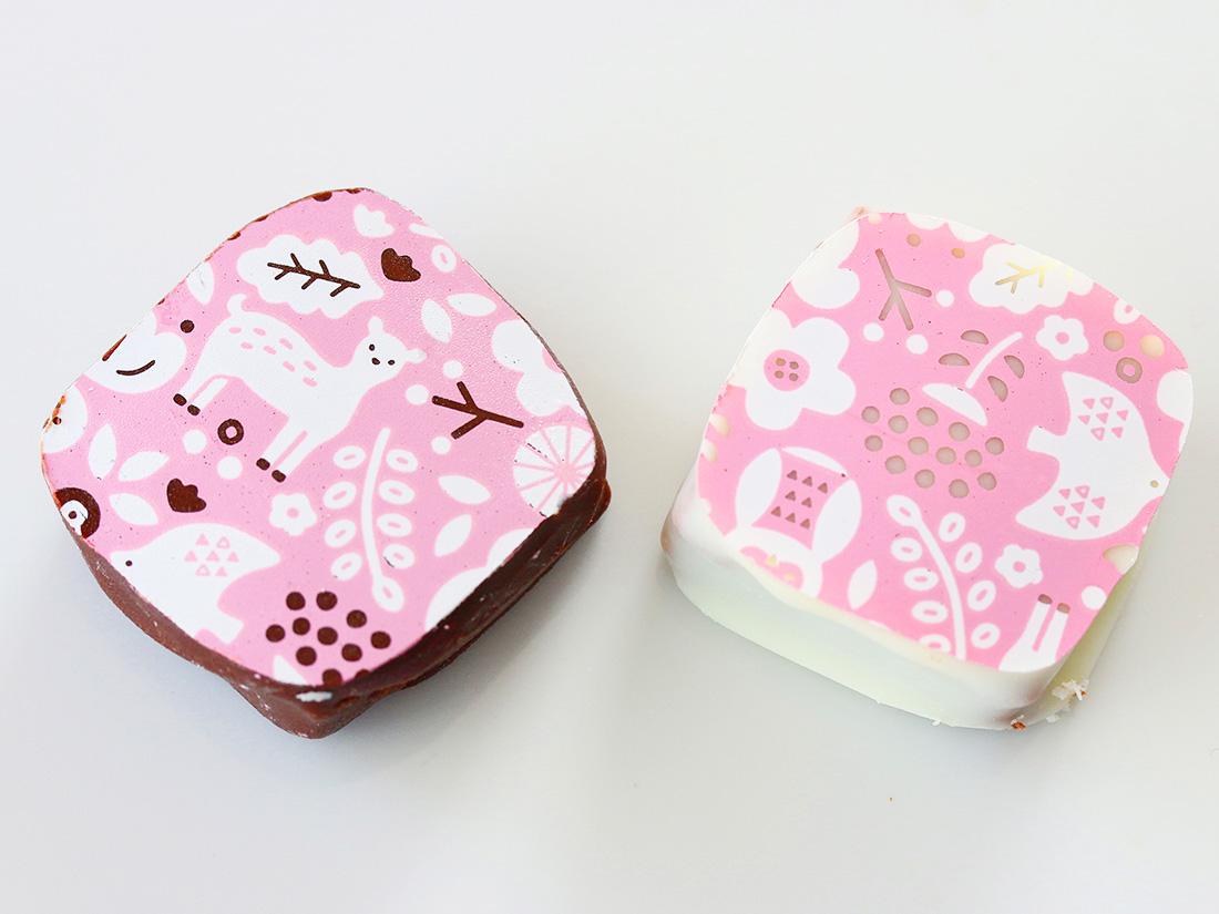 冷蔵便 cotta 転写シート 森のなかま(ピンク)