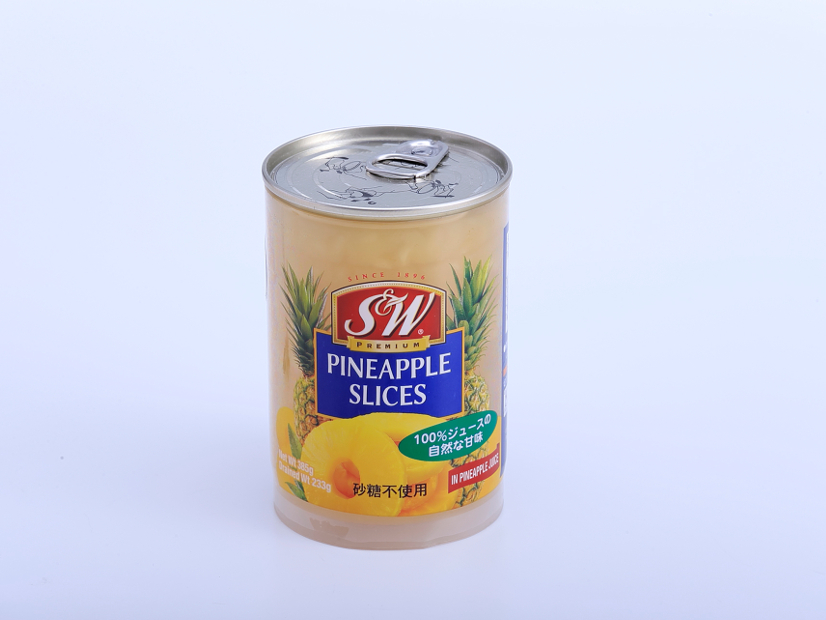 S&W スライスパイン果汁漬け クリアボトル 385g