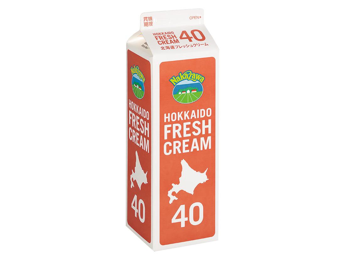 冷蔵 中沢乳業 北海道フレッシュクリーム 40% 1000ml