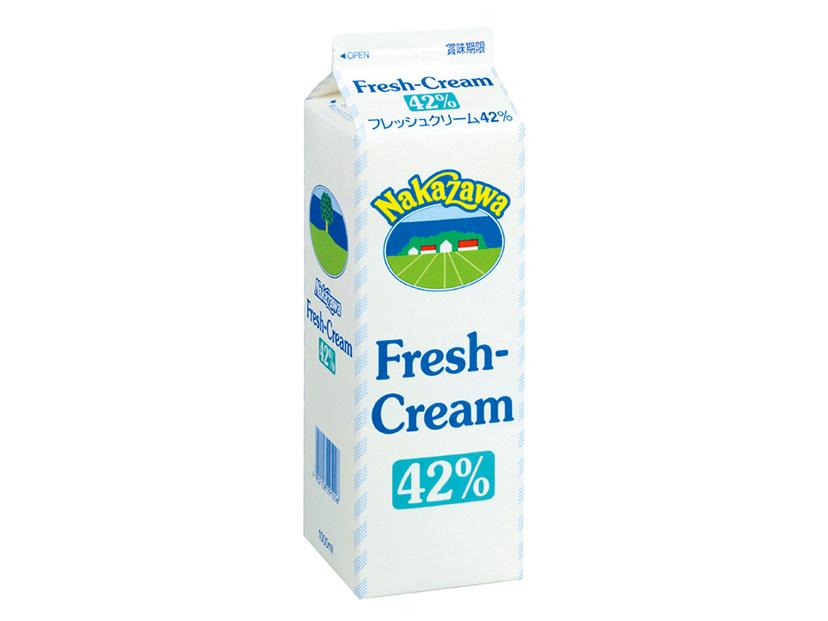 冷蔵 中沢乳業 フレッシュクリーム 42% 1000ml