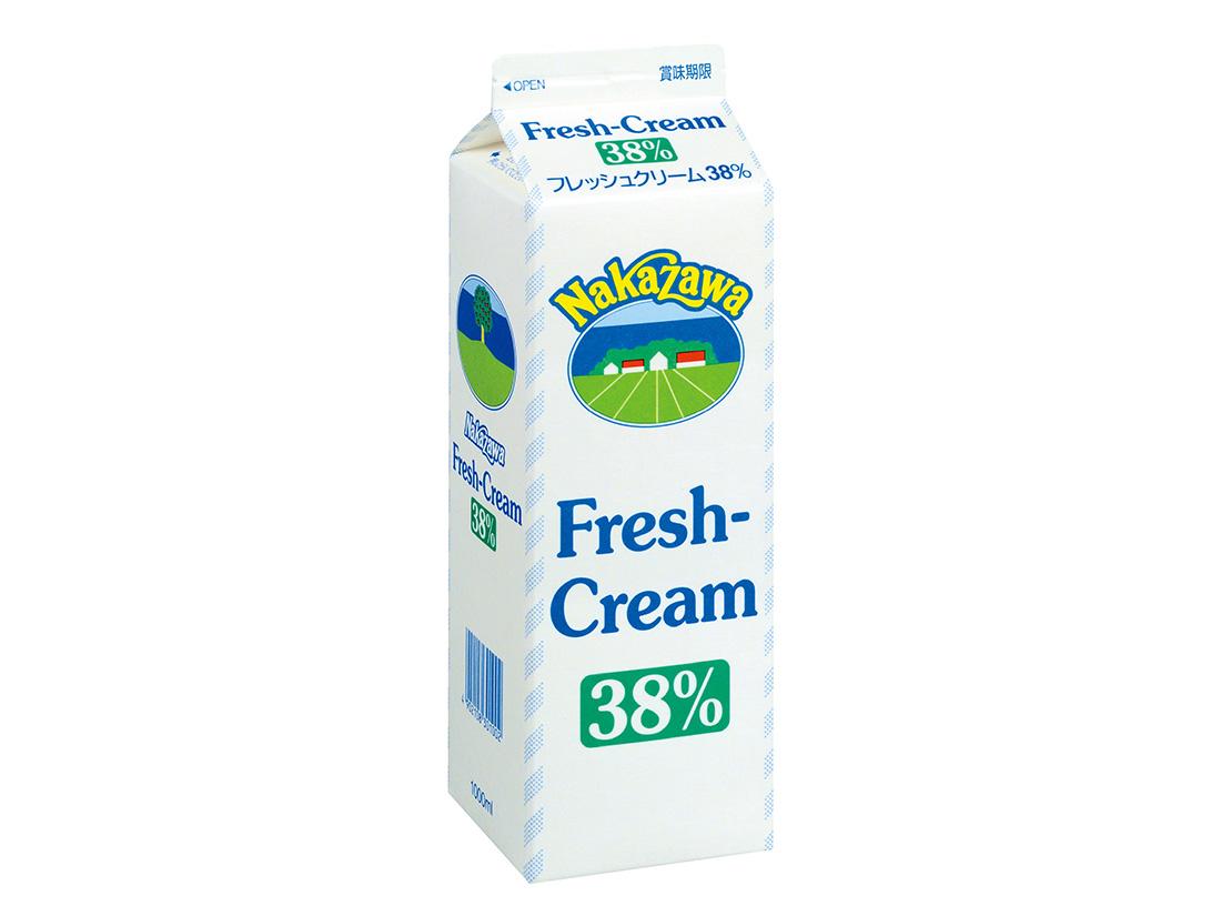 冷蔵 中沢乳業 フレッシュクリーム 38% 1000ml
