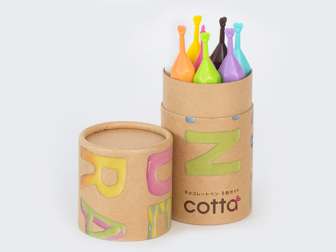 cotta デコれーとペン(速乾性タイプ)8色セット