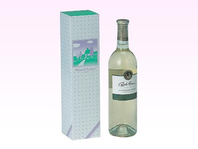 ワイン筒式箱イラスト(1本用)