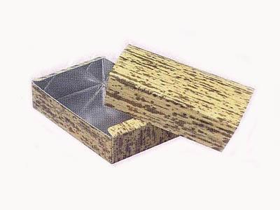 竹皮柄銀折箱 豆折