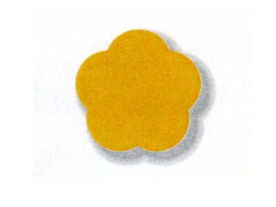 ミニシルエットカード フラワー(10色×3枚)
