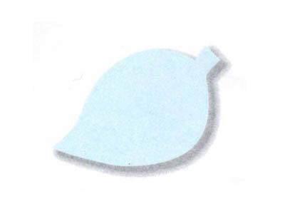 シルエットカード 木の葉(10色×3枚)