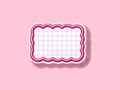 抜型カード 立体枠 雲型 ¥なし(50枚入)ピンク