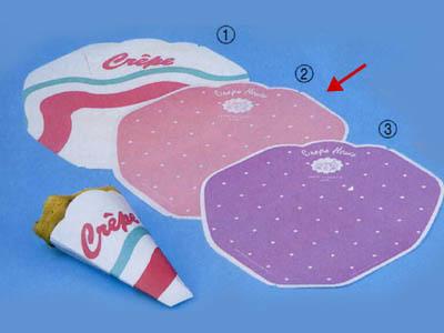 変形型クレープ包装紙 (ピンク)