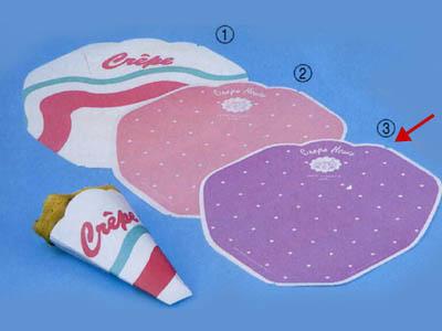 変形型クレープ包装紙 (バイオレット)