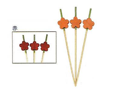 飾り串梅7.5cm 赤(100本入)
