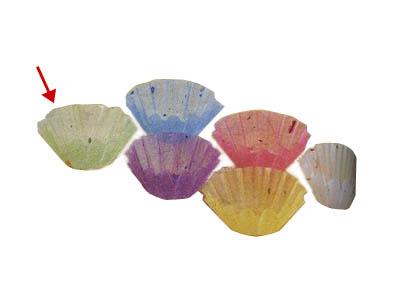 グルメカップ金箔紙 緑 径60(500枚入り)