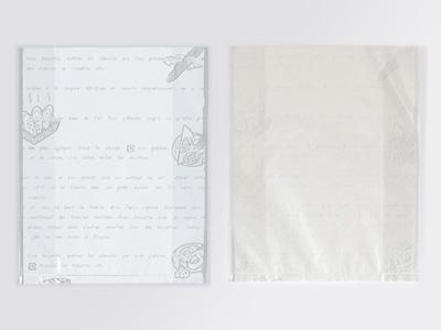 レシピ柄ガゼットサンド袋