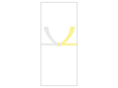 OA対応札紙 黄水引 (100枚)