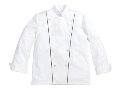 コックコート 6-905(白/黒) L