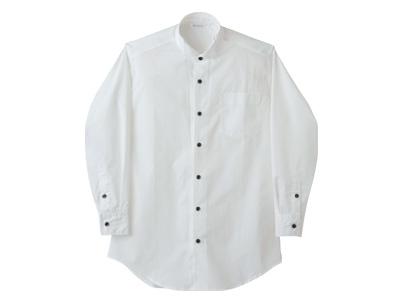 ウイングカラーシャツBS2561-2(長袖・男女兼用)M