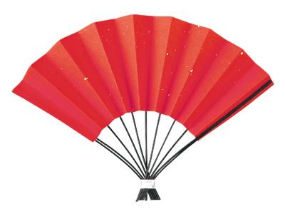 正月飾り(赤扇子)