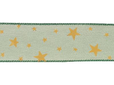 ディスプレイリボン スター単色 グリーン