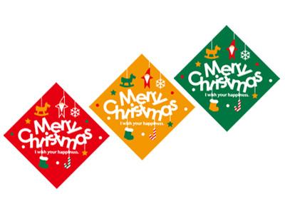 ピック クリスマスパーティー(3色×5片)