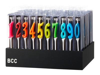 BCCナンバーキャンドルミニディスプレイセット
