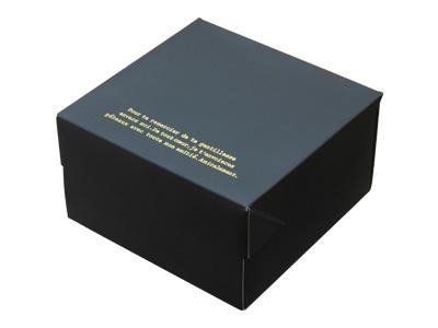 ガトーショコラBOX ブラック(金台紙付)