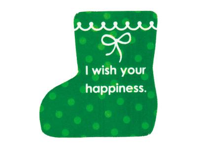 ピック クリスマス 長靴(グリーン)