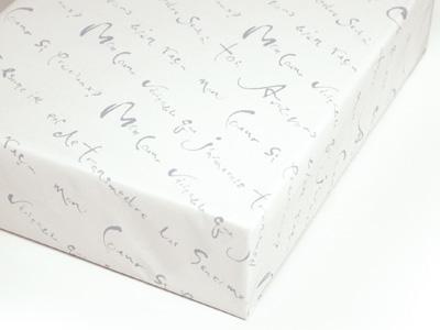 プロヴァンス 包装紙 ホワイト