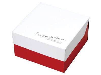 ガトーショコラBOX ホワイト/レッド