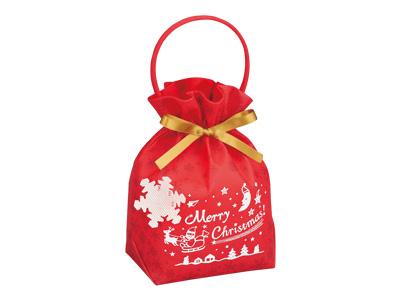 クリスマス リボンバッグ2 赤