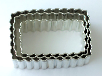 BIRKMANNクッキー型 波形長方形 3ピース