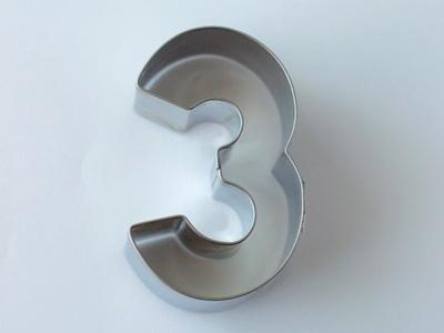 BIRKMANNクッキー型 数字3