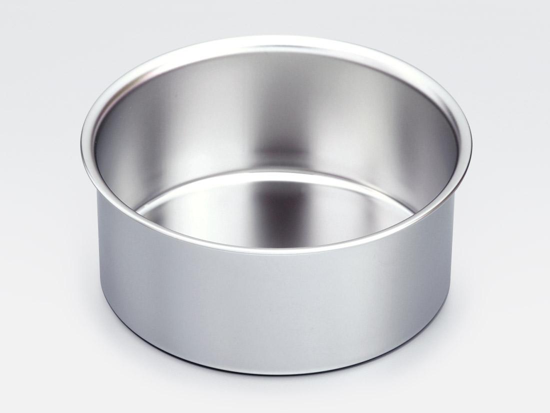 18-8 デコ缶 共底 浅型 4寸