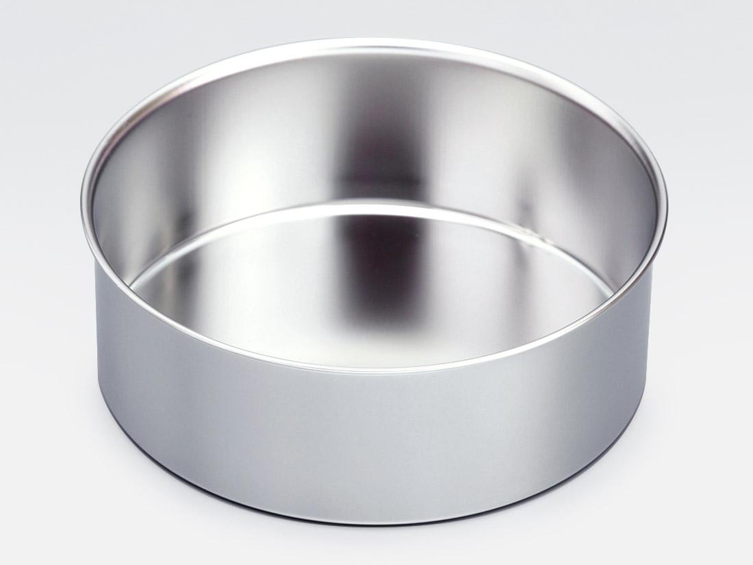 18-8 デコ缶 共底 浅型 5寸