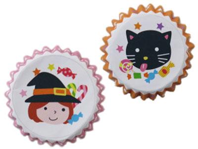 HW ミニペットカップ 魔女とネコ 2種アソート(各10枚入り)