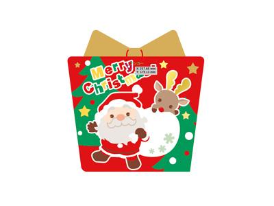 クリスマスシール プレゼントサンタ