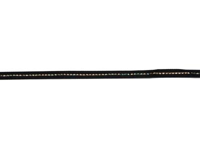 グリッターWサテン・ゴールド 117 ブラック 6mm