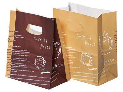 スイーツ袋 カフェ(底板紙付) 小