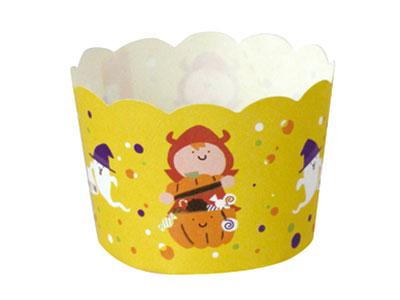 ハロウィン マフィンケーキカップS イエロー