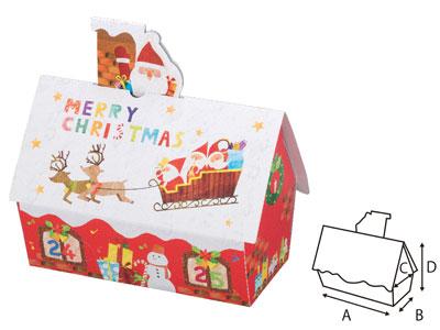 ギフト箱 サンタハウス 16×8